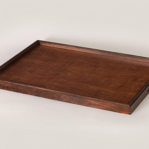 wooden hotel room service tray