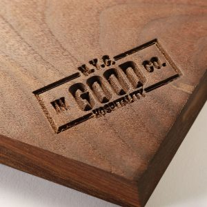 monogrammed wood tray