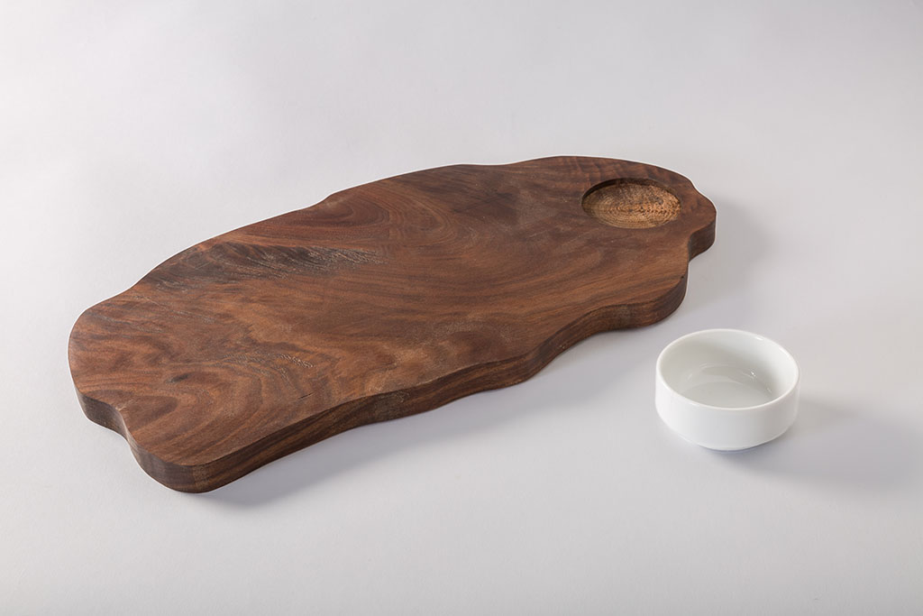 Super Custom Food Serving Tray with Ramekin Holder | Culinary Wood Designs IK54